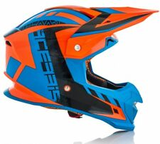 CASCO HELMET MOTO CROSS ENDURO ACERBIS PROFILE 4.0  ORANGE ARANCIO FLUO BLU TG L