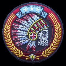 Indian Chief Feathered Decorations Skull BIKER INDIAN CHIEF PATCH
