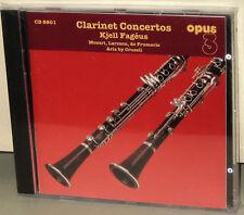 OPUS 3 CD 8801: KJELL FAGEUS - Clarinet & Basset, KLAS - OOP SWEDEN 2002 SEALED