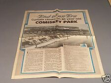Comiskey Park Commemorative Newspaper Article from 1990 - Great for framing