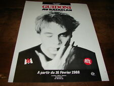 JEAN GUIDONI - PUBLICITE BATACLAN FEVRIER 1988 !!!!!!!!