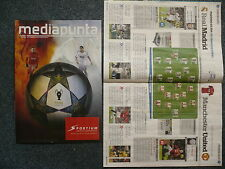 REAL MADRID CF v MANCHESTER UNITED PROGRAMME 13.2.2013 UEFA CHAMPIONS LEAGUE 1/8