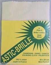 CHIFFON astic brille frottez ça brille argent or bijoux 20 X 30 cm