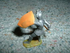 Elastolin 40mm Armoured Knight Mediaeval fighting with mace I