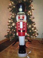 "HTF NEW 40"" Christmas Lighted  Nutcracker Blow Mold Yard Decoration"