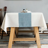 Linen tablecloth,waterproof Table Cover for Kitchen Dining Tabletop Decoration