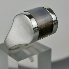 Modernes Schmuck- Design, Ring, Silber 925, Stein wohl Quarz, Gr. verstellbar
