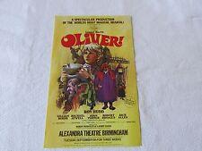 OLIVER inc Roy HUDD 1970's Original BIRMINGHAM Alexandra Theatre Flyer