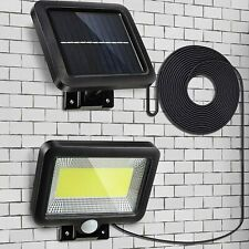More details for solar powered pir motion led outdoor garden light security flood wall lamp
