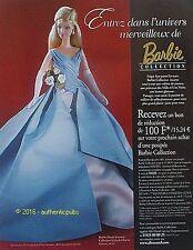 PUBLICITE BARBIE HAUTE COUTURE COLLECTION GALA DE CHARITE DE 201 FRENCH AD PUB