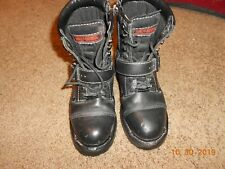 "Harley Davidson Women's Motorcycle Biker ""03"" Boots Size 7 side zip lace up"