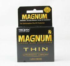 Trojan Magnum THIN Large Size Lubricated Premium Latex Condoms ULTA Smooth