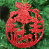 Pack of 3 Santa & Reindeer Picutre Christmas Tree Hanging Pendant Decorations