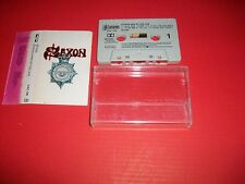 SAXON ‎- Strong Arm Of The Law - UK 1980 Music Cassette Album Carrere CAC 120
