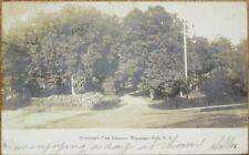 Wappingers Falls, NY 1906 Realphoto Postcard: Park Entrance - New York
