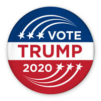 "3"" Political Campaign Pin - Vote Donald Trump 2020 - Shooting Star Design"