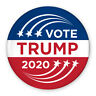 "3"" Political Campaign Pin - Vote Donald Trump 2020 - Shooting Star Design"