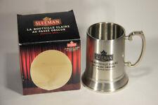 L009579 BEER GLASS / RARE Sleeman Stainless Steel Mug Boxed / Canada - ON / FR