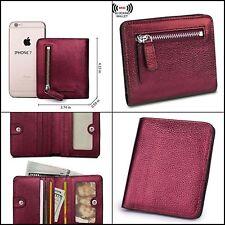 BIG SALE-AINIMOER Women's RFID Blocking Leather Small Compact Bifold Pocket Mini