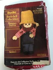 Bucilla Bookshelf Collectibles Miniature Doll Kit. - Farmer