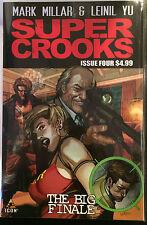 Super Crooks #4 VF Nm- 1º Dibujo Icon Comics Mark Millar