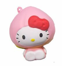 Sanrio Hello Kitty Fruits Market Squishy Hello Kitty in a Peach Costume by NIC