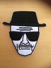 Heisenberg breaking bad black and white embroidered iron sew on patch