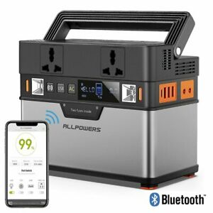 ALLPOWERS Tragbarer PowerStation 288Wh Akku SolarGenerator 300W Batterie Charger