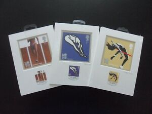 """London 2012 Olympic Royal Mail Stamps & Postcards """"Venue Collection""""  Qty 3."""