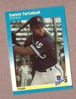 1987 Fleer Update Baseball Card U-117 Danny Tartabull Kansas City Royals