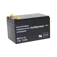 Blei-Gel Akku Multipower MP12-12 Batterie 12V 12Ah 4,8mm NP12-12 FG21202 Accu