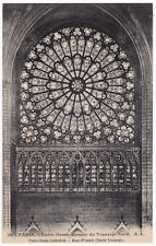 Antique Postcard Notre Dame Cathedral Rose Window Paris France A7