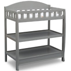 Baby Changing Table With Pad And 2 Shelf Storage Safety Rails Multiple Finishes