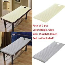 2 Pack Spa Massage Table Sheet Cover Beauty Salon Bed Mattress Beige Grey