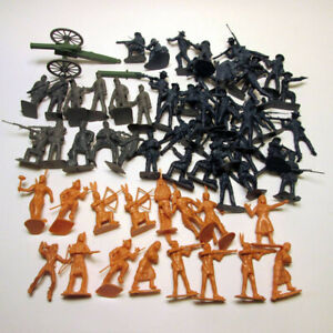 BMC Toys Battle of the Little Big Horn Soux Indians 7th Cavalry Plastic Soldiers