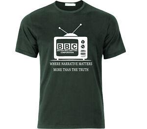 BBC British Bullsh*tting Corporation Fake News Social Engineering T Shirt Black