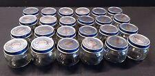 Lot of 24 - 2.5 oz Gerber Baby Food Jars w Lids Clean No Labels Or Glue
