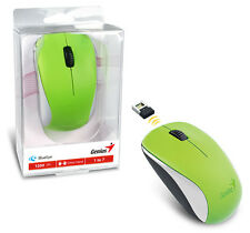 Genius NX-7000 Wireless Mouse W/ Blue Eye Sensor Comfort for All-Day Use - Green