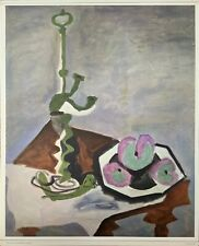 "Picasso ""Lamp with Bowl of Fruit"", Painting Reproduction by Penn Prints NY"