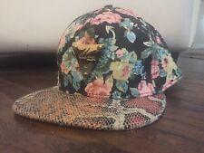 HATER SnapBack Hat Snakeskin Floral - Hawaiian Print  - RARE & Ready 4 Beach!