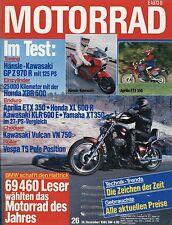 MO3352 Motorrad 1985 26/85 MZ 250 Gespann Uno Rotax 600 Aprilia ETX350 Vespa 125
