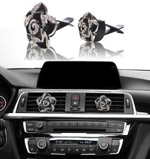 Bling Car Accessories Interior Decoration for Girls Women -Black Crystal Flowers