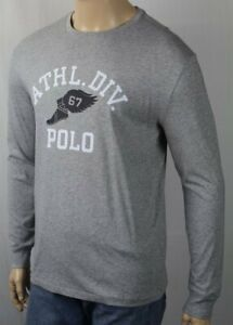 Polo Ralph Lauren Gris Athlétique Ras Cou Classique T-Shirt Nwt