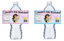 20 PRINCESS JASMINE PERSONALIZED BIRTHDAY PARTY FAVORS ~ WATER BOTTLE LABELS