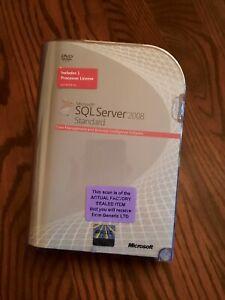 Factory Sealed - 228-08404 Microsoft SQL Server 2008 Standard 1 Processor