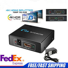 1×2 HDMI Splitter V1.4D View 4K 3D 1080p One Input to Two Output Switch&Splitter