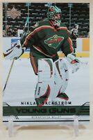 Niklas Backstrom Young Guns 2006-07 Upper Deck YG Rookie RC Minnesota Wild