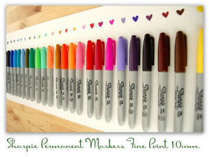 Sharpie Fine Point Permanent Single Marker Pen Choose Colors