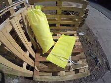 (5) POLYPROPYLENE SACKS BUILDERS RUBBLE SAND BAGS (HI VIZ COLOUR)