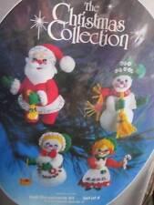 Paragon Christmas Collection Santa & Friends Felt Ornaments Kit #6122- Set of 4